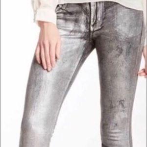 "James Jeans silver flake ""Twiggy"" jeans"